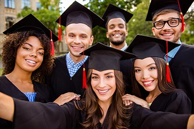 A group of new college graduates